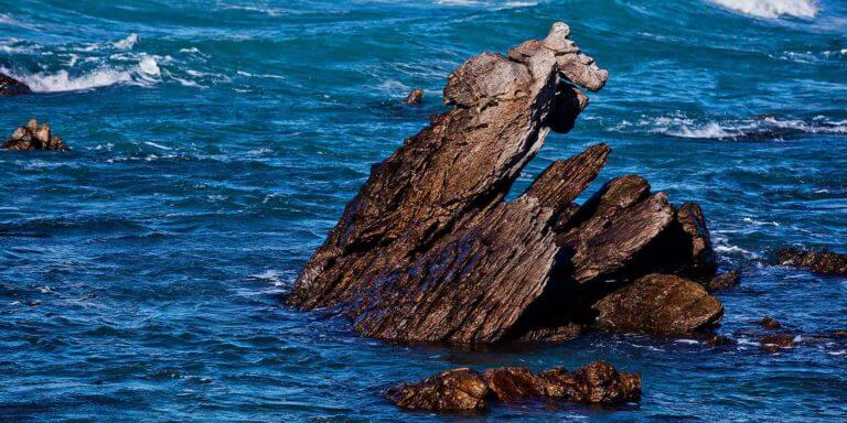 Rock in the ocean at Cape Agulhas